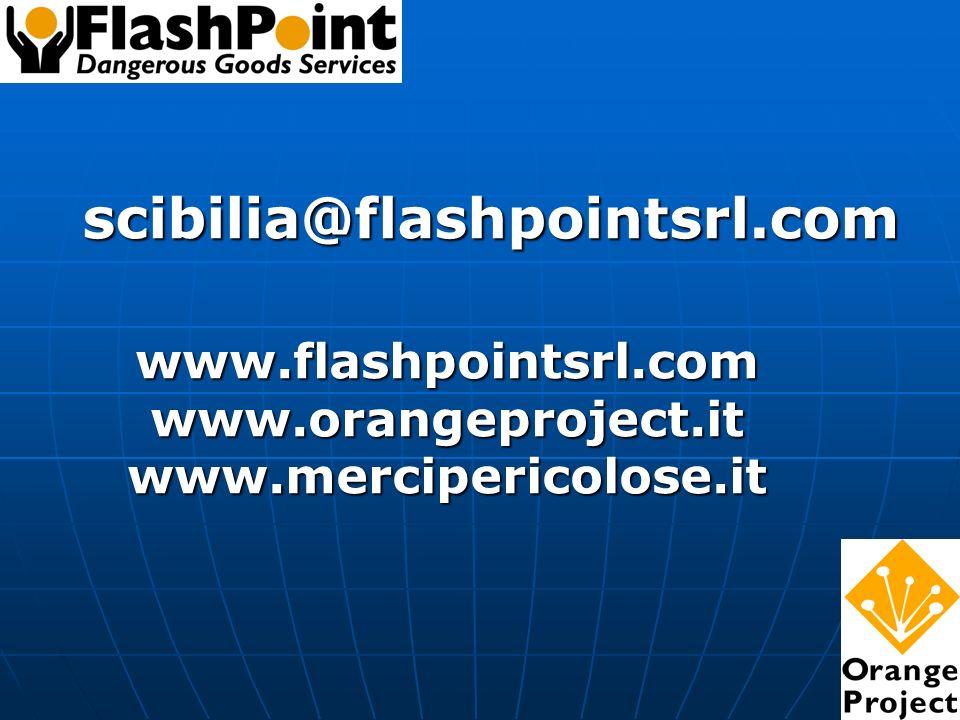 scibilia@flashpointsrl.com www.flashpointsrl.comwww.orangeproject.itwww.mercipericolose.it