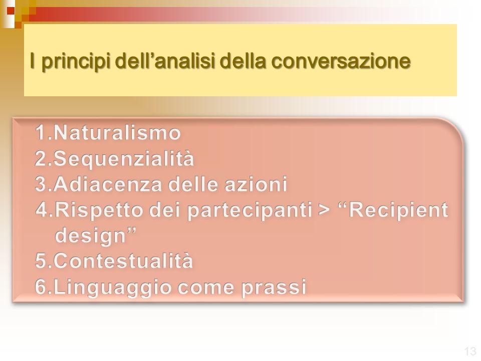 I principi dellanalisi della conversazione 13