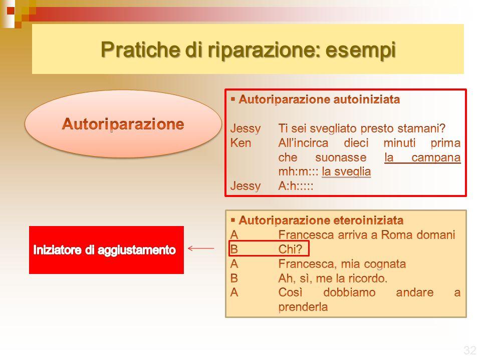 Pratiche di riparazione: esempi 32