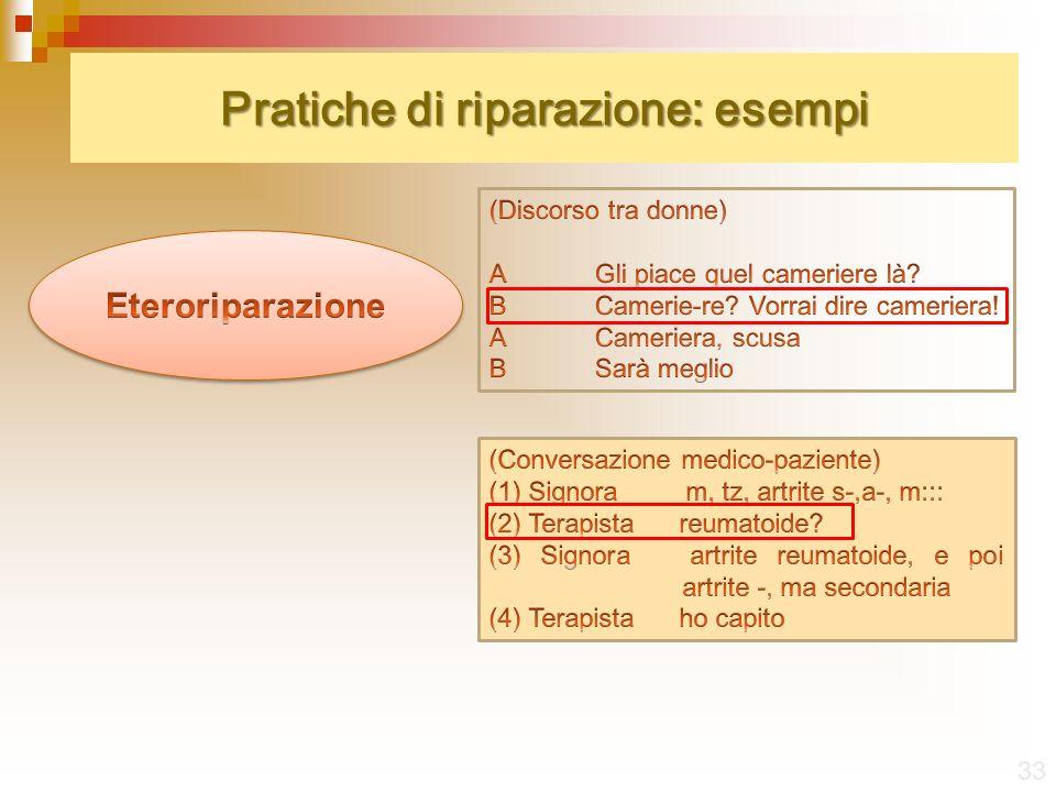 Pratiche di riparazione: esempi 33