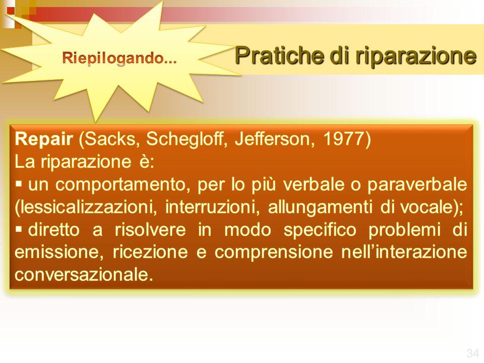 Pratiche di riparazione 34