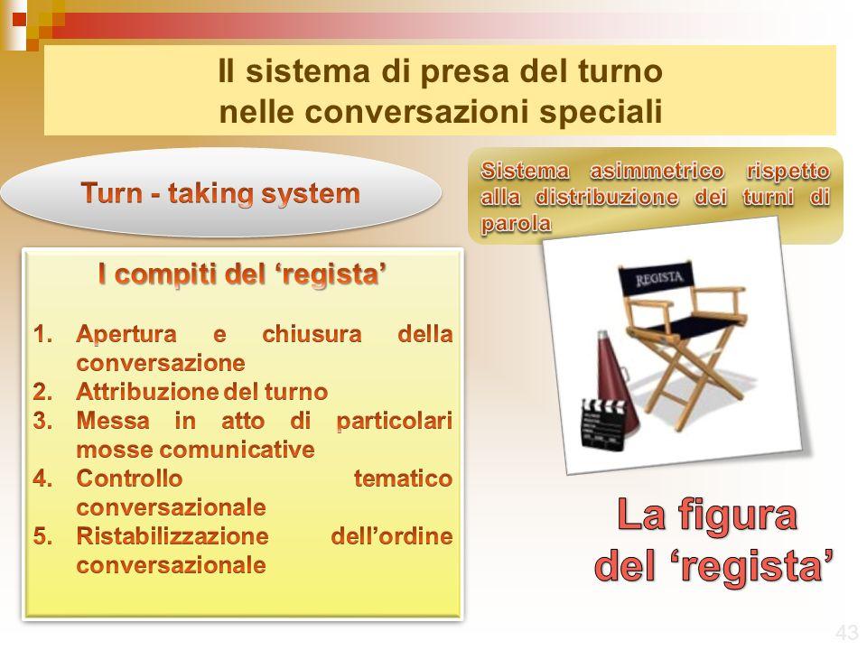 43 Il sistema di presa del turno nelle conversazioni speciali