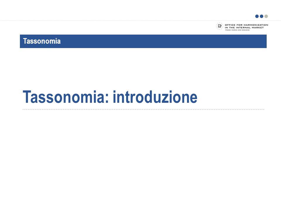 Tassonomia: introduzione Tassonomia