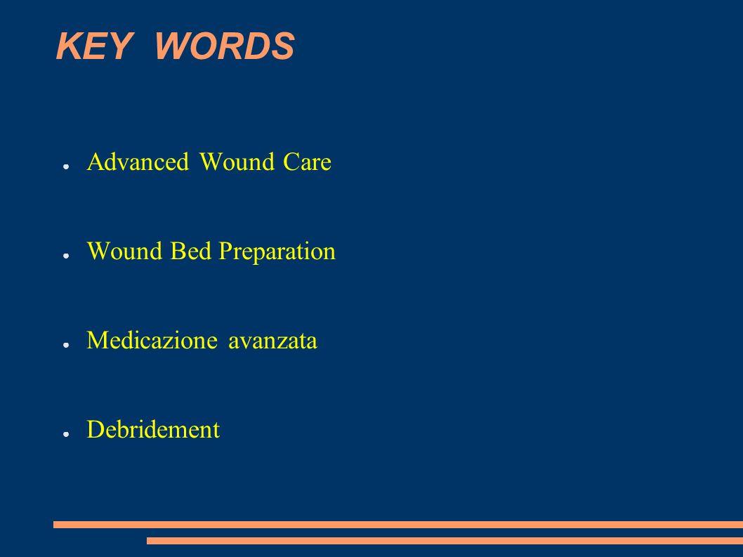 KEY WORDS Advanced Wound Care Wound Bed Preparation Medicazione avanzata Debridement