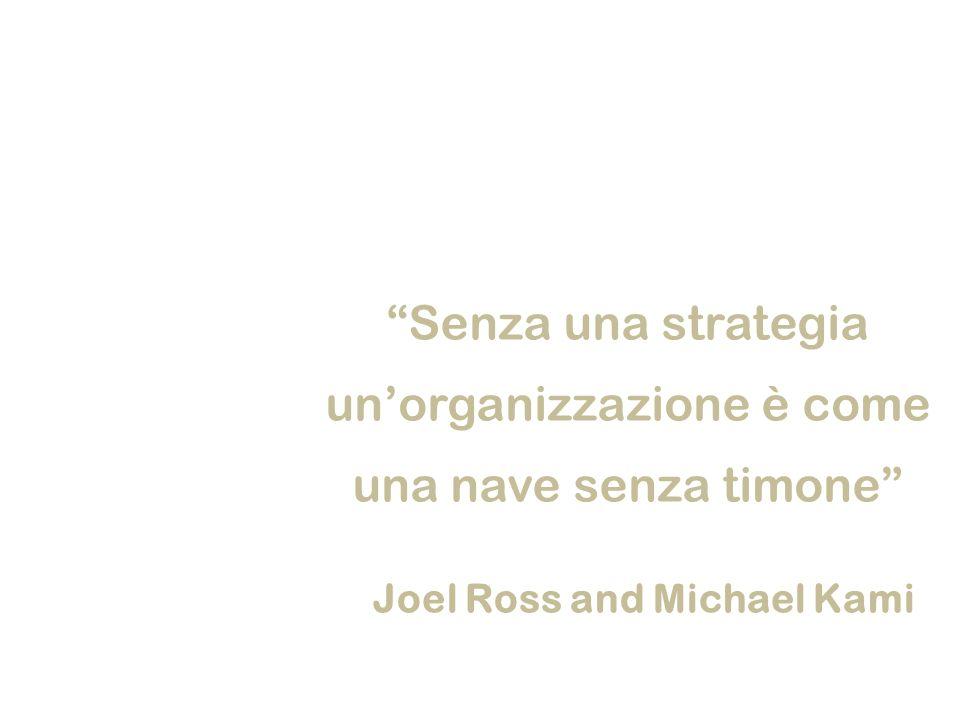 Senza una strategia unorganizzazione è come una nave senza timone Joel Ross and Michael Kami