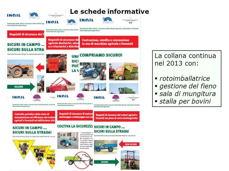 Le schede informative La collana continua nel 2013 con: rotoimballatrice gestione del fieno sala di mungitura stalla per bovini