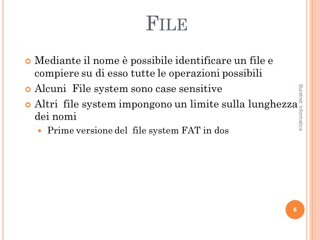 T IPOLOGIE DI BACKUP 57 Fattori da considerare per predisporre un buon backup: File system: è molto importante avere una copia di tutti i file system attivi.