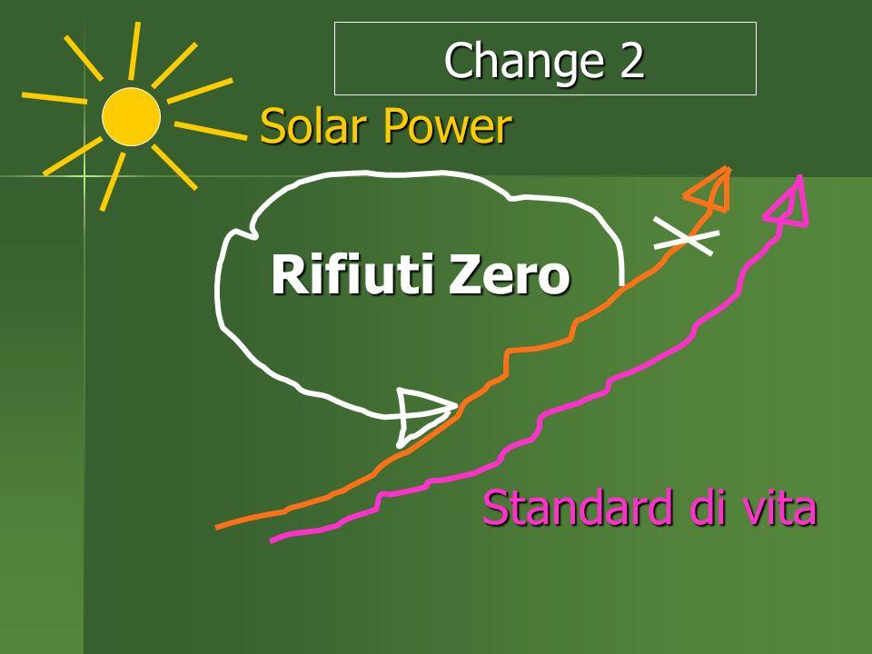 Rifiuti Zero Rifiuti Zero Solar Power Solar Power Standard di vita Change 2
