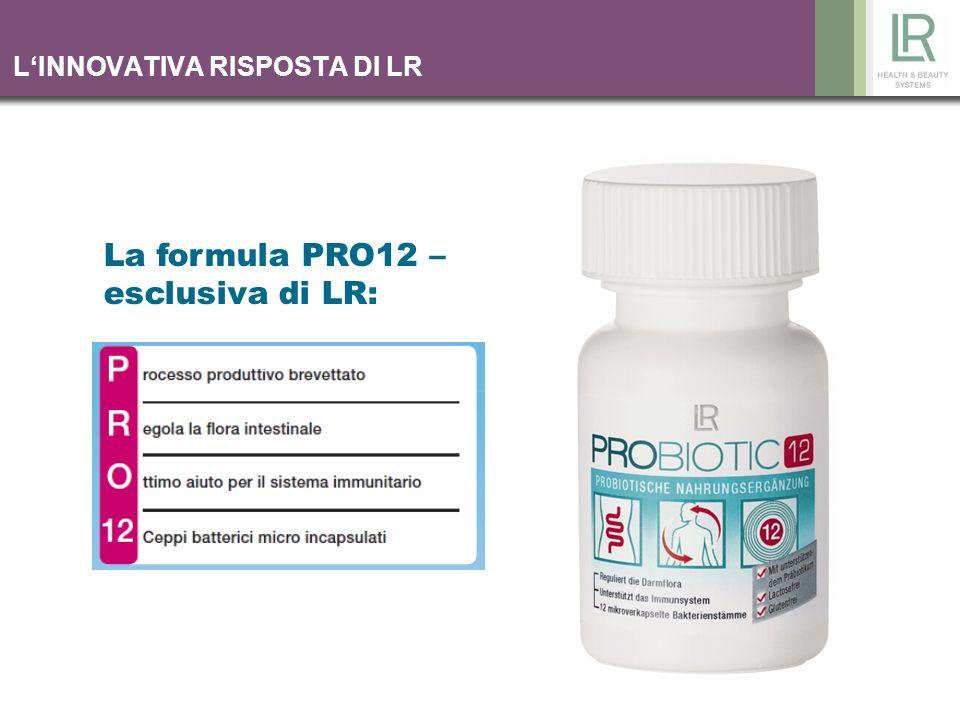 LINNOVATIVA RISPOSTA DI LR La formula PRO12 – esclusiva di LR: