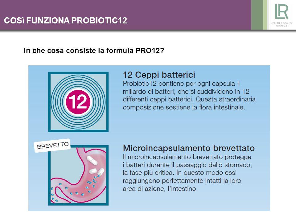 COSì FUNZIONA PROBIOTIC12 In che cosa consiste la formula PRO12?