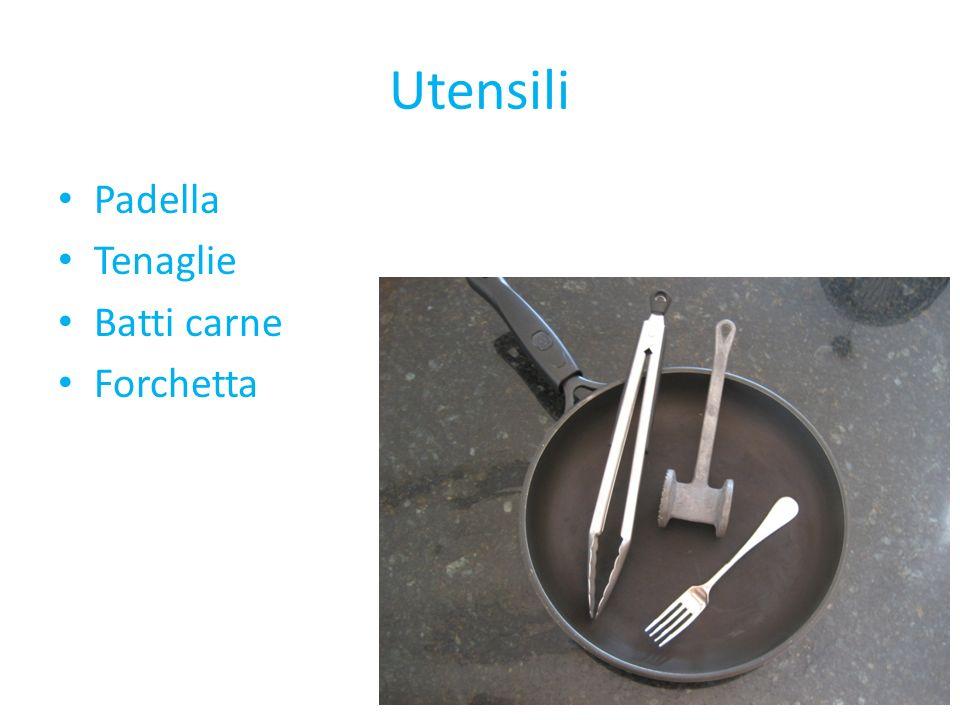 Utensili Padella Tenaglie Batti carne Forchetta