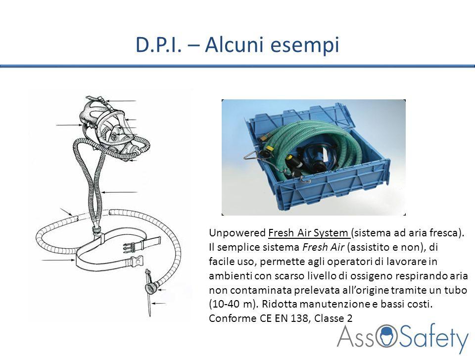 D.P.I. – Alcuni esempi Unpowered Fresh Air System (sistema ad aria fresca). Il semplice sistema Fresh Air (assistito e non), di facile uso, permette a