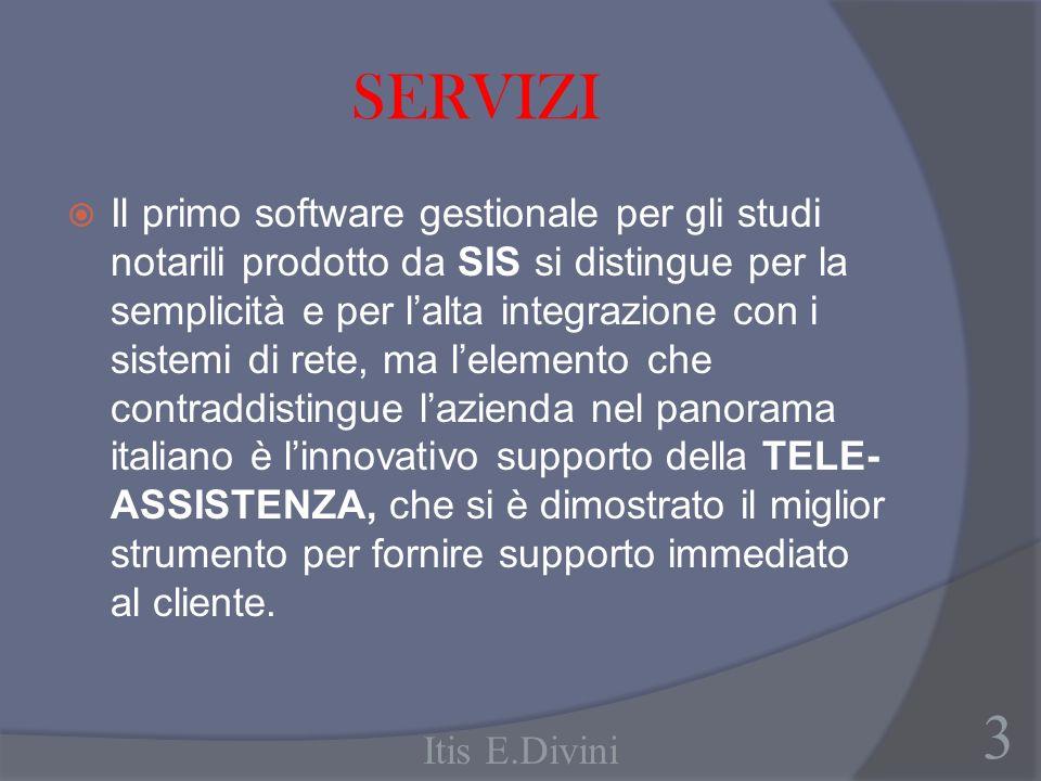 SERVIZI Il primo software gestionale per gli studi notarili prodotto da SIS si distingue per la semplicità e per lalta integrazione con i sistemi di r
