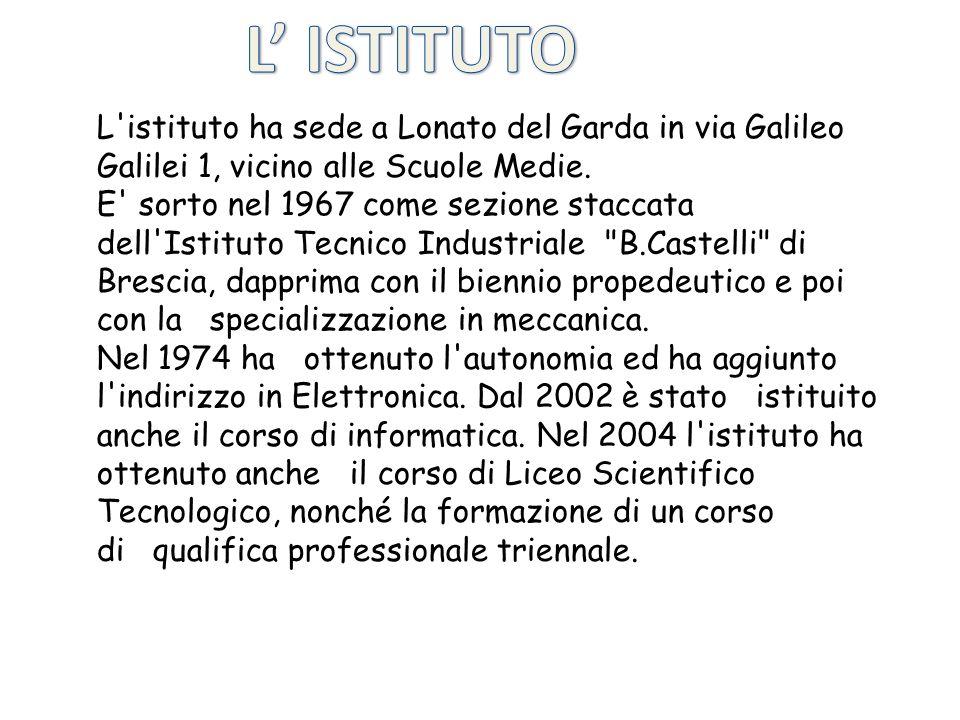 L'istituto ha sede a Lonato del Garda in via Galileo Galilei 1, vicino alle Scuole Medie. E' sorto nel 1967 come sezione staccata dell'Istituto Tecnic