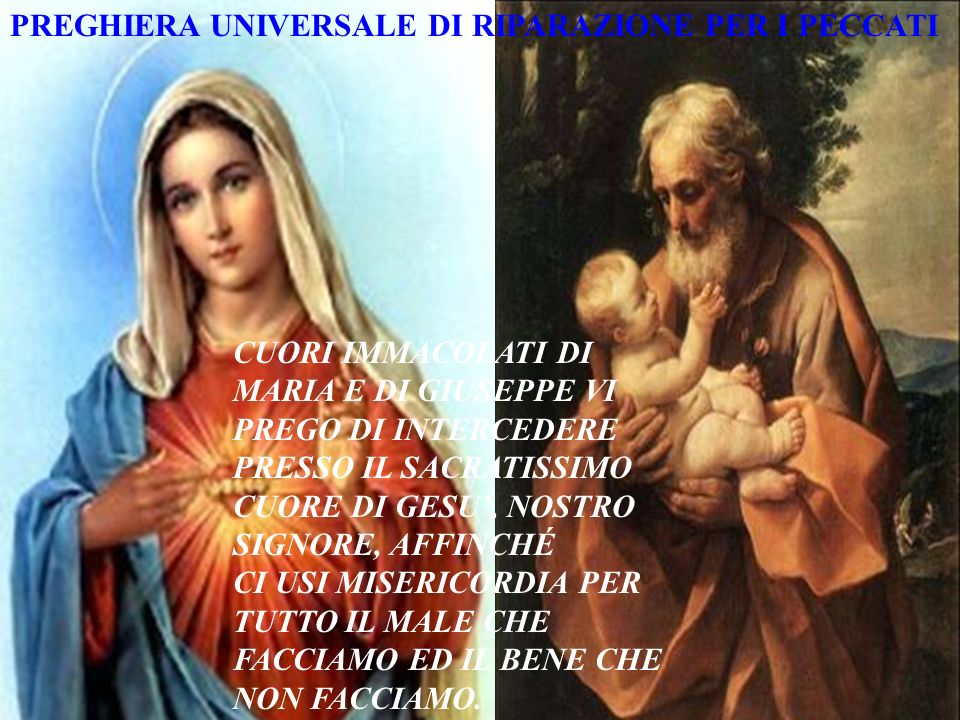 MISERICORDIA E PERDONO PER LE OFFESE CONTRO NOSTRO SIGNORE DIO, CREATORE E PADRE;