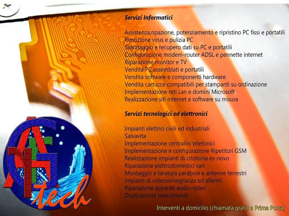 Assistenza informatica Assistenza Riparazione Potenziamento Ripristino Pulizia e rimozione virus Salvataggio e recupero dati Configurazione modem- router ADSL e pennette internet