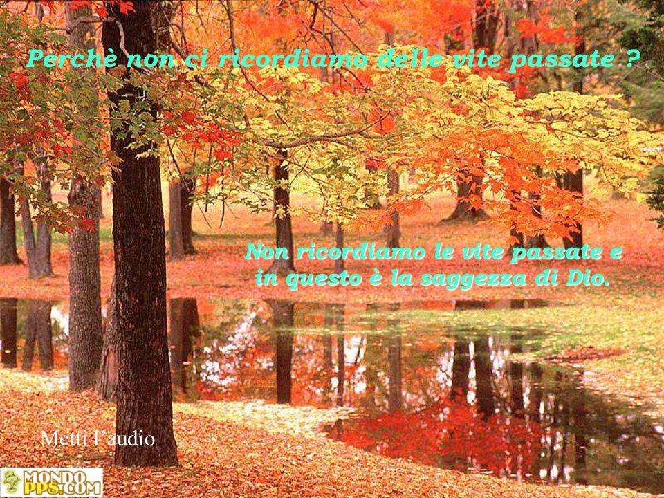 Non ricordiamo le vite passate e in questo è la saggezza di Dio.