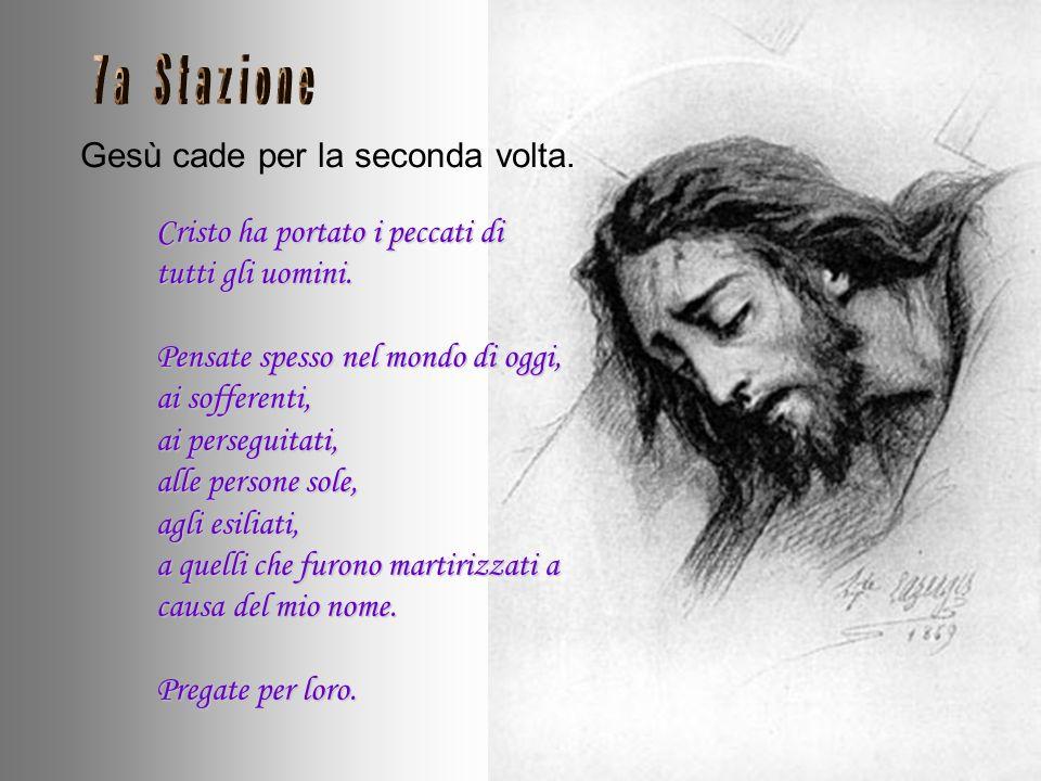 La Veronica asciuga il volto di Gesù. Sul morbido panno della Veronica che ha asciugato il mio volto, ho lasciato la mia impronta. Guardate i miei occ