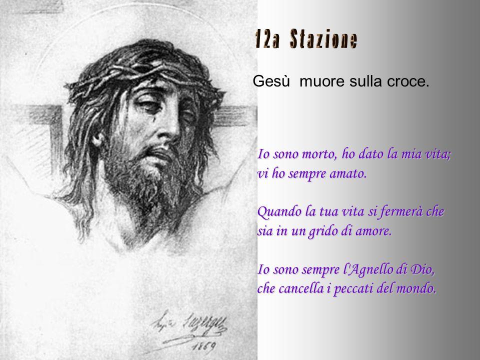 Gesù inchiodato sulla croce. Perché sarei morto, se non per il grande desiderio di glorificare il Padre e la sete della vostra salvezza? Ho aperto il