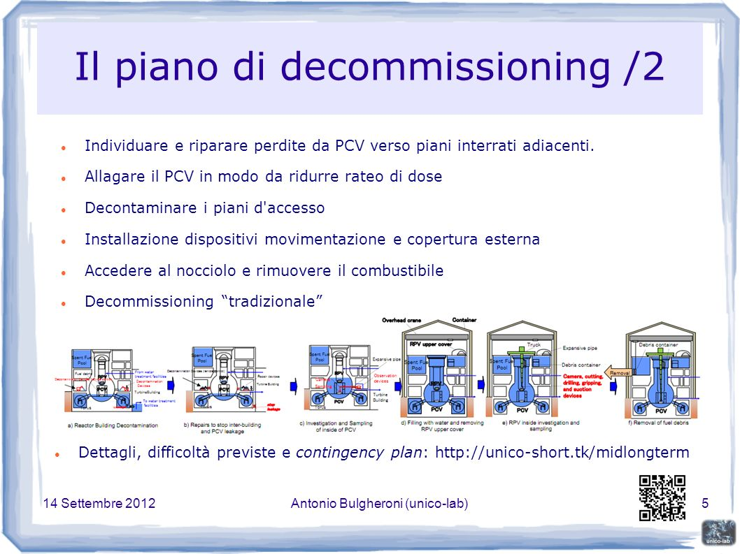 14 Settembre 2012Antonio Bulgheroni (unico-lab)36 Ispezione degli interrati Livello dell acqua superiore al livello d accesso della sala toro.