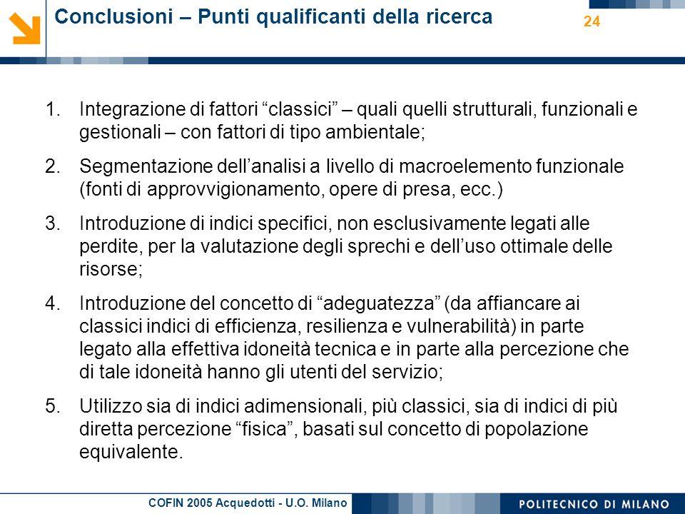 COFIN 2005 Acquedotti - U.O.