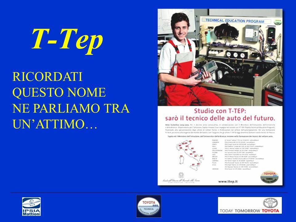 Qualche ulteriore notizia sul corso TOYOTA La Toyota nel 2002 ha scelto l IPSIA Mattioni come scuola TTEP, una delle 20 italiane previste.