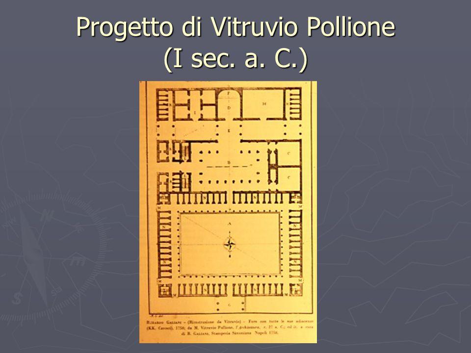 Progetto di Vitruvio Pollione (I sec. a. C.)