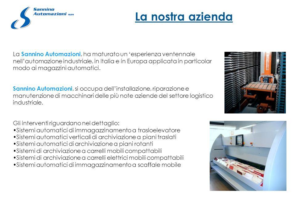 La nostra azienda La Sannino Automazioni, ha maturato un esperienza ventennale nellautomazione industriale, in Italia e in Europa applicata in partico