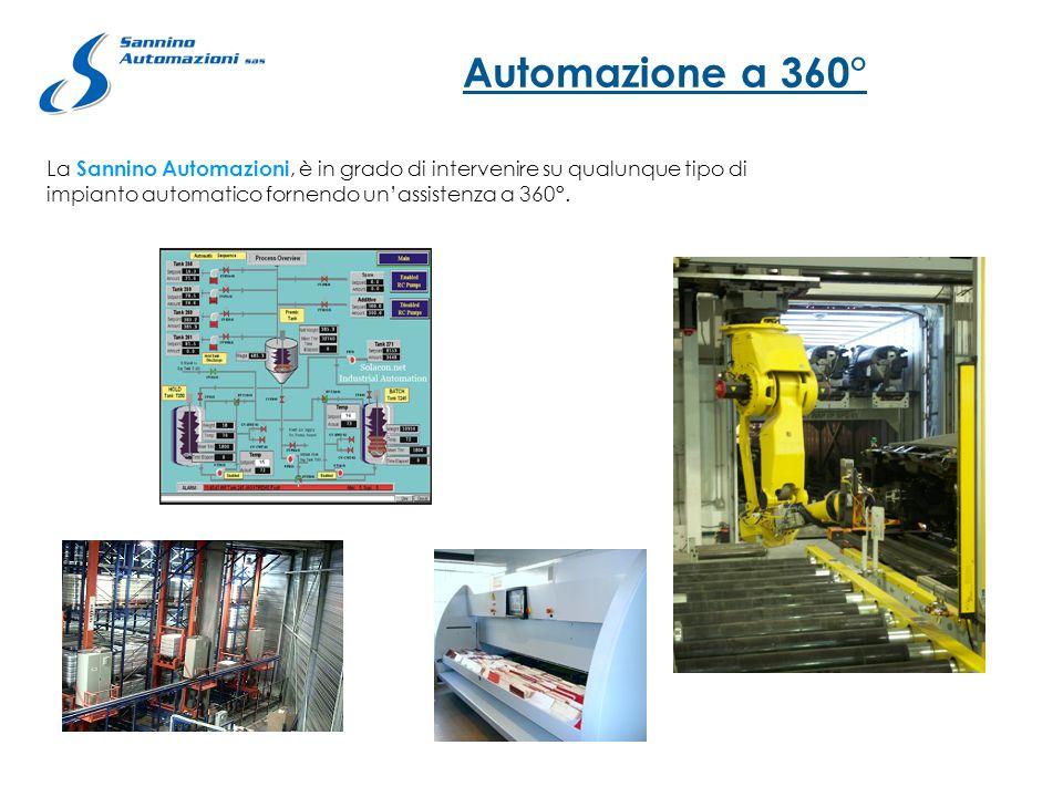 Automazione a 360° La Sannino Automazioni, è in grado di intervenire su qualunque tipo di impianto automatico fornendo unassistenza a 360°.