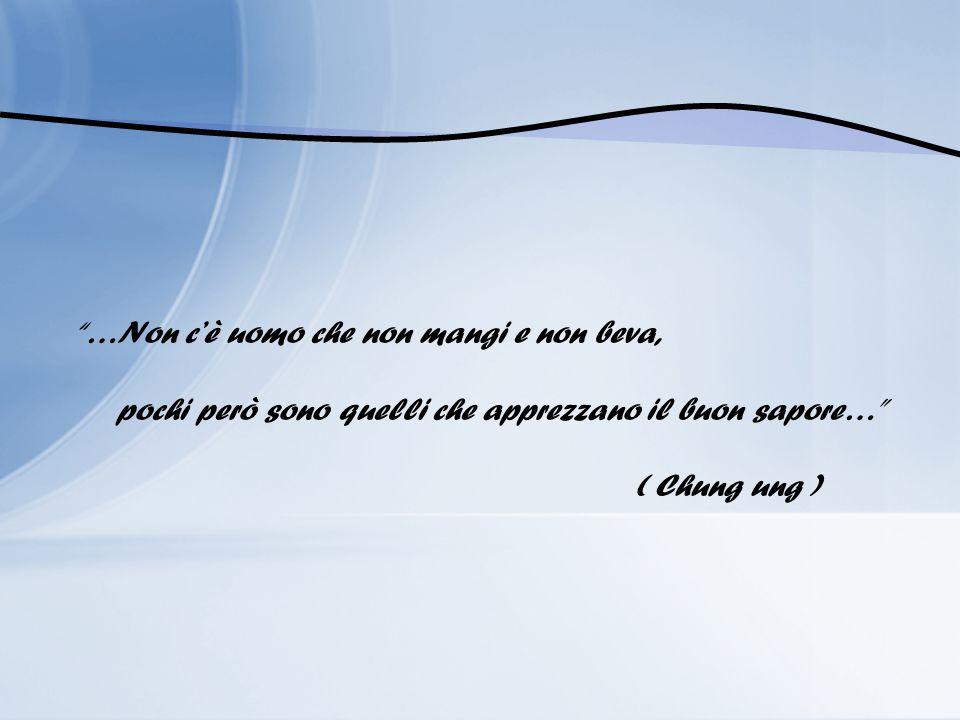 …Non cè uomo che non mangi e non beva, pochi però sono quelli che apprezzano il buon sapore… ( Chung ung )