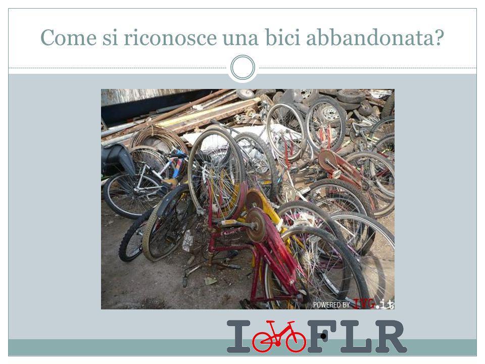 Come si riconosce una bici abbandonata?