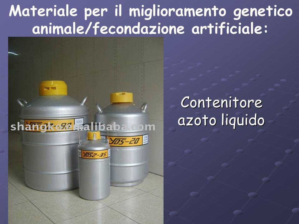 Contenitore azoto liquido Materiale per il miglioramento genetico animale/fecondazione artificiale: