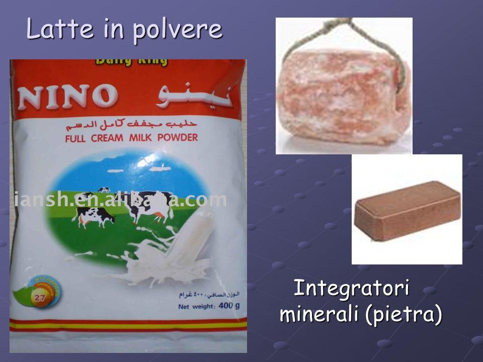 Latte in polvere Integratori minerali (pietra)