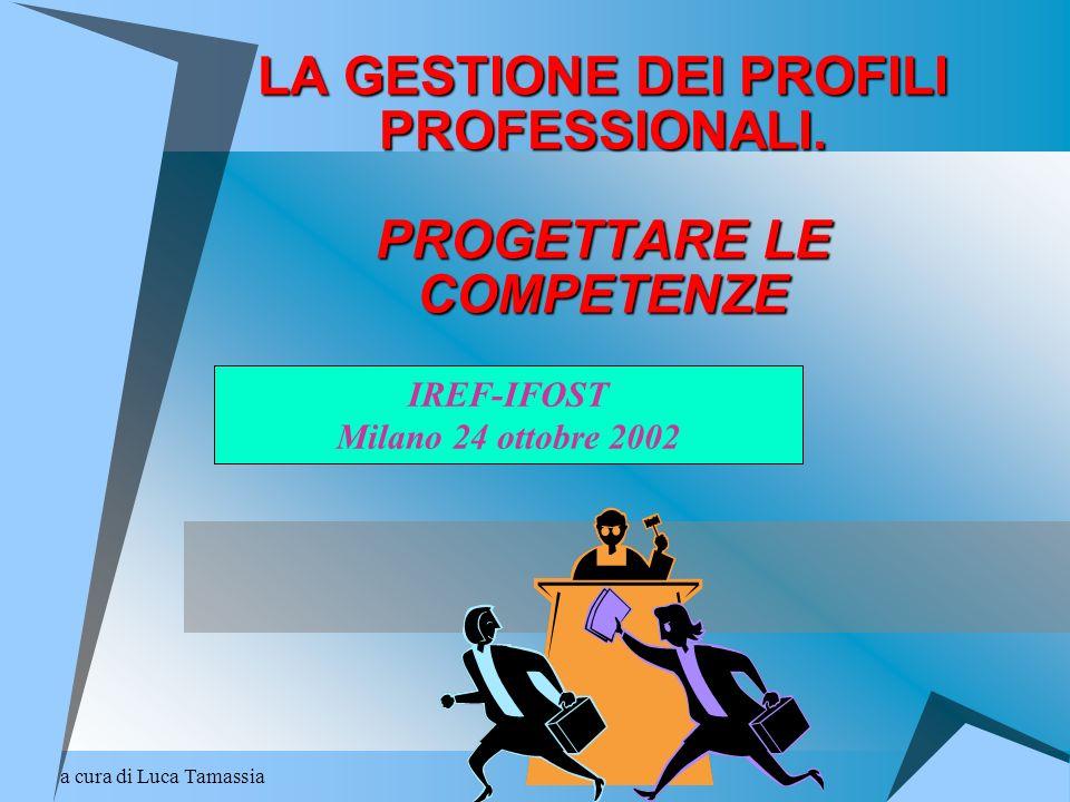 a cura di Luca Tamassia LA GESTIONE DEI PROFILI PROFESSIONALI. PROGETTARE LE COMPETENZE IREF-IFOST Milano 24 ottobre 2002
