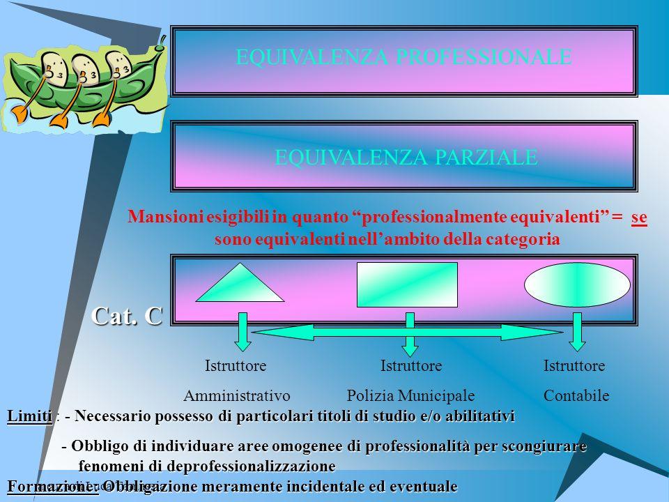 a cura di Luca Tamassia EQUIVALENZA PROFESSIONALE EQUIVALENZA PARZIALE Mansioni esigibili in quanto professionalmente equivalenti = se sono equivalent