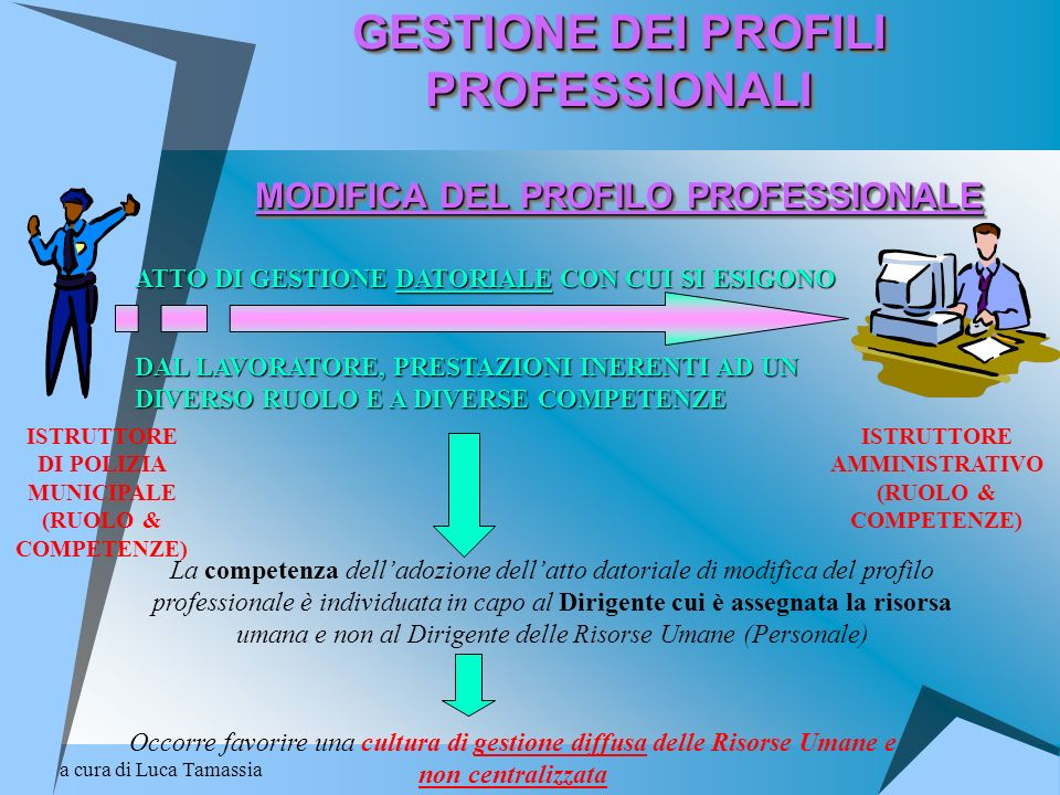 a cura di Luca Tamassia GESTIONE DEI PROFILI PROFESSIONALI MODIFICA DEL PROFILO PROFESSIONALE GESTIONE DEI PROFILI PROFESSIONALI MODIFICA DEL PROFILO