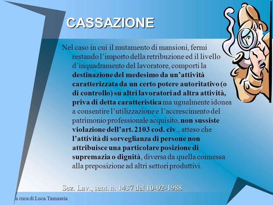 a cura di Luca Tamassia CODICE CIVILE 1374 - Integrazione del contratto (eterointegrazione) CODICE CIVILE art.