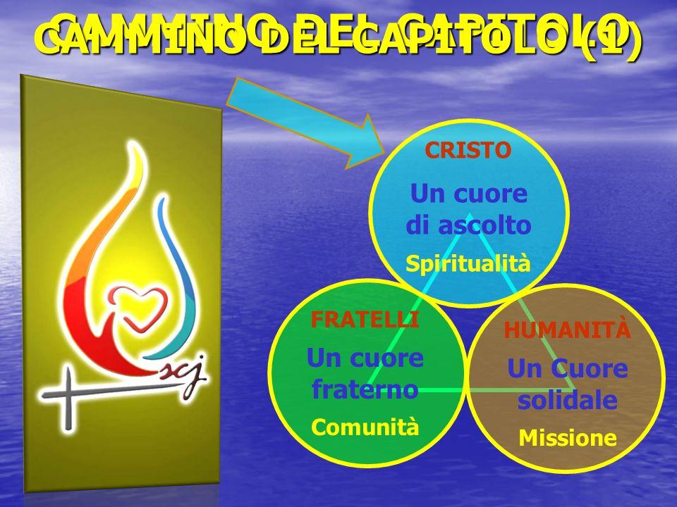 CRISTO Un cuore di ascolto Spiritualità FRATELLI Un cuore fraterno Comunità HUMANITÀ Un Cuore solidale Missione CAMMINO DEL CAPITOLO CAMMINO DEL CAPIT