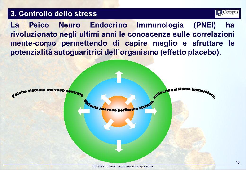 OCTOPUS – Stress ossidativo e medicina preventiva 13 3. Controllo dello stress La Psico Neuro Endocrino Immunologia (PNEI) ha rivoluzionato negli ulti
