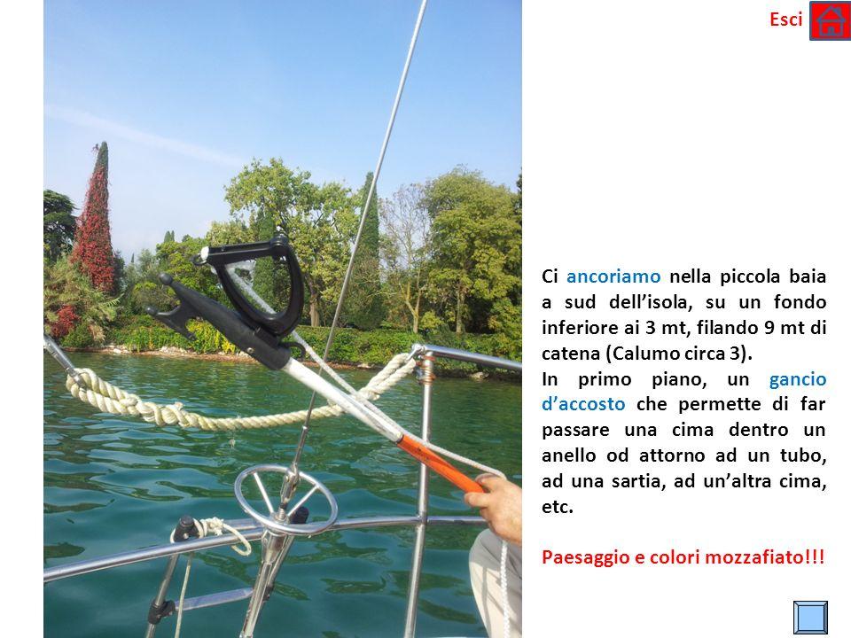 * Ci ancoriamo nella piccola baia a sud dellisola, su un fondo inferiore ai 3 mt, filando 9 mt di catena (Calumo circa 3).