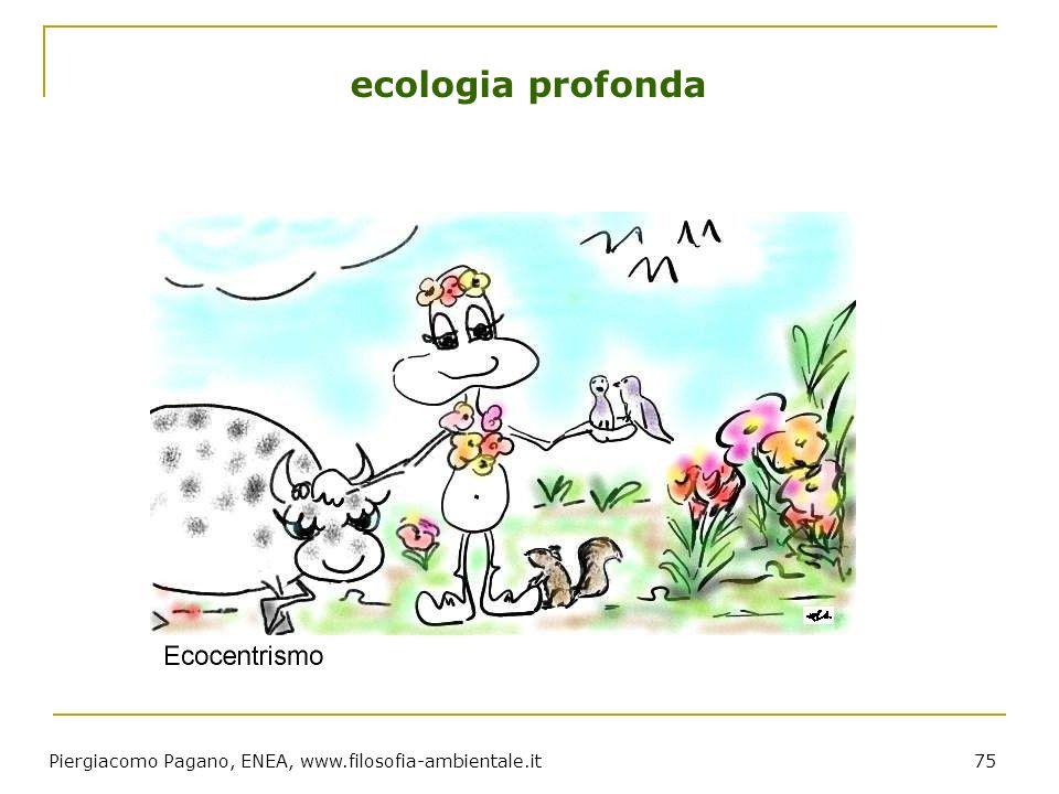Piergiacomo Pagano, ENEA, www.filosofia-ambientale.it 75 ecologia profonda