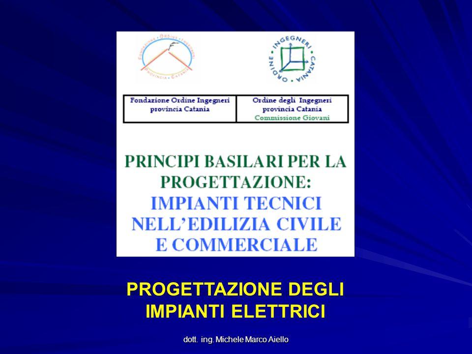 dott. ing. Michele Marco Aiello PROGETTAZIONE DEGLI IMPIANTI ELETTRICI
