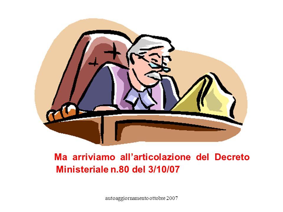 autoaggiornamento ottobre 2007 In presenza di debiti vi potrà essere il rinvio della formulazione del giudizio finale.