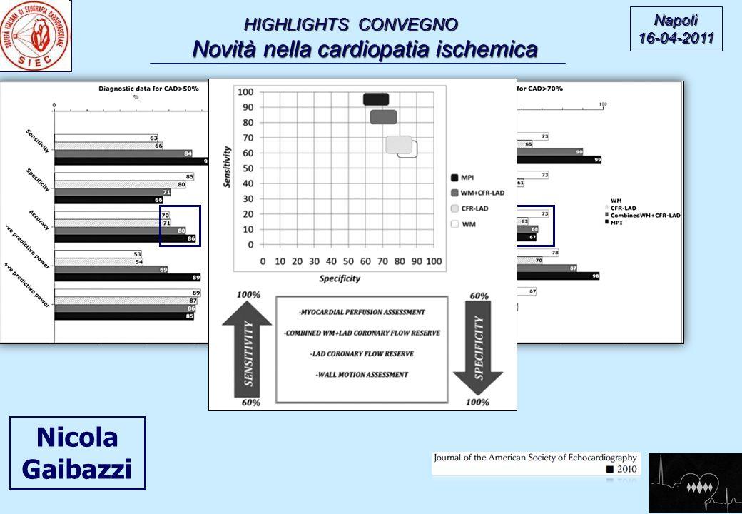 HIGHLIGHTS CONVEGNO Novità nella cardiopatia ischemica Novità nella cardiopatia ischemica Napoli16-04-2011 Nicola Gaibazzi