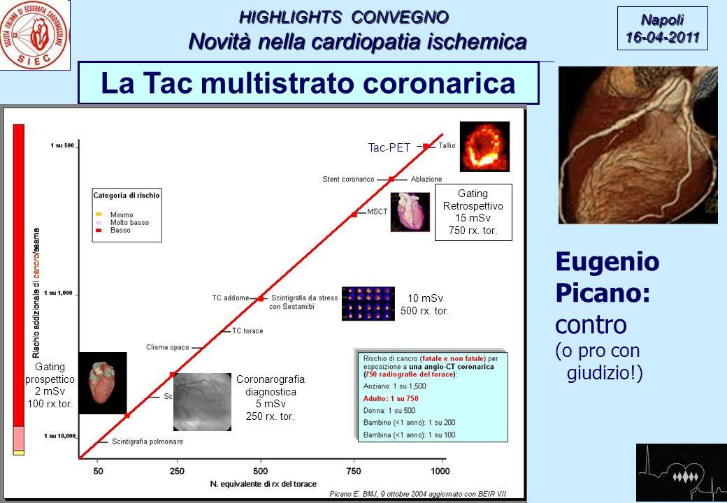 HIGHLIGHTS CONVEGNO Novità nella cardiopatia ischemica Novità nella cardiopatia ischemica Napoli16-04-2011 La Tac multistrato coronarica Eugenio Pican