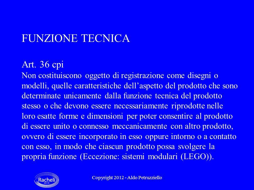 FUNZIONE TECNICA Art.