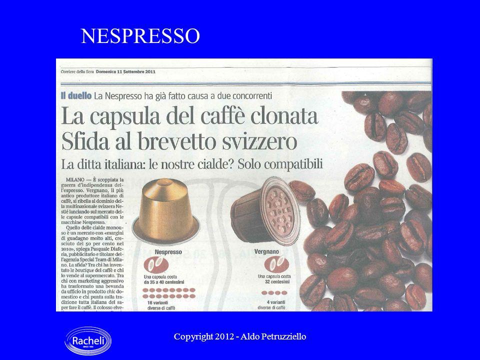 NESPRESSO Copyright 2012 - Aldo Petruzziello