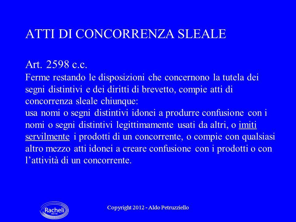 ATTI DI CONCORRENZA SLEALE Art. 2598 c.c.