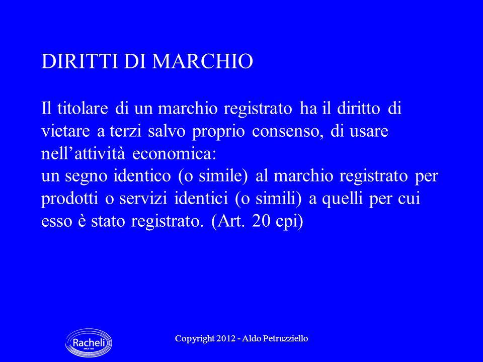 ESEMPI DI BREVETTI SU CARTUCCE Copyright 2012 - Aldo Petruzziello