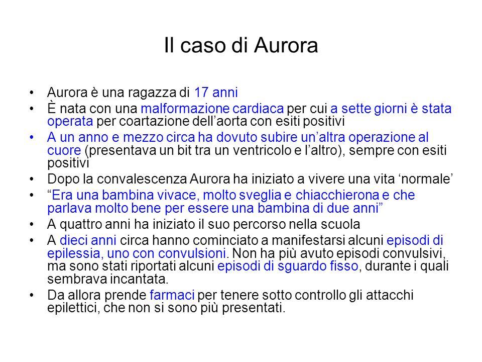 Il caso di Aurora Aurora è una ragazza di 17 anni È nata con una malformazione cardiaca per cui a sette giorni è stata operata per coartazione dellaor